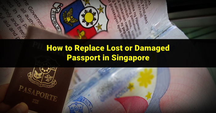 damaged philippine passport - singapore