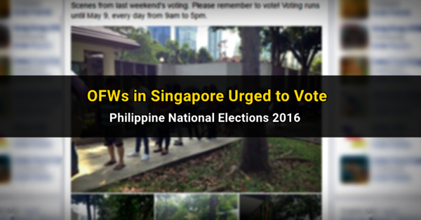 singapore pinoy elections 2016