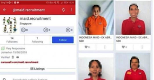 MOM looks into Cases of Foreign Maids being 'sold' on Carousell
