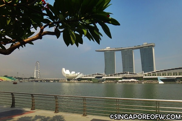 marina bay sands view