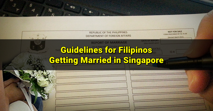 report of marriage singapore