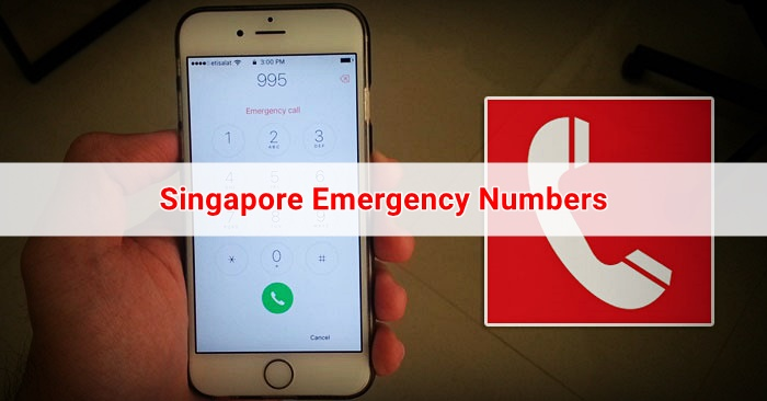 singapore emergency numbers