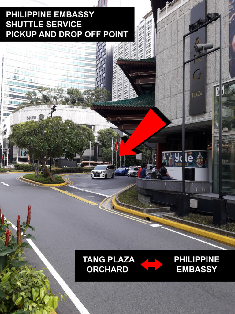 Free Shuttle Service to PH Embassy | Singapore OFW