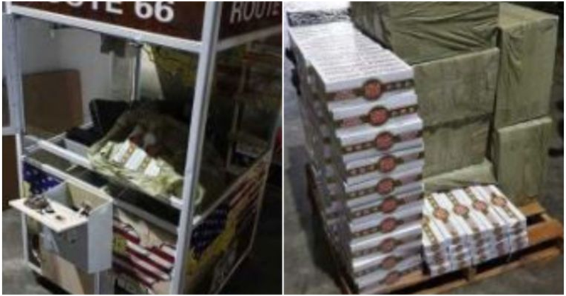 6,000 Cartons of Contraband Cigarettes Found Inside Game Machines Inside Warehouse