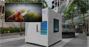 SG Company Introduces Cabin that Filters Cigarette Smoke into Clean Air