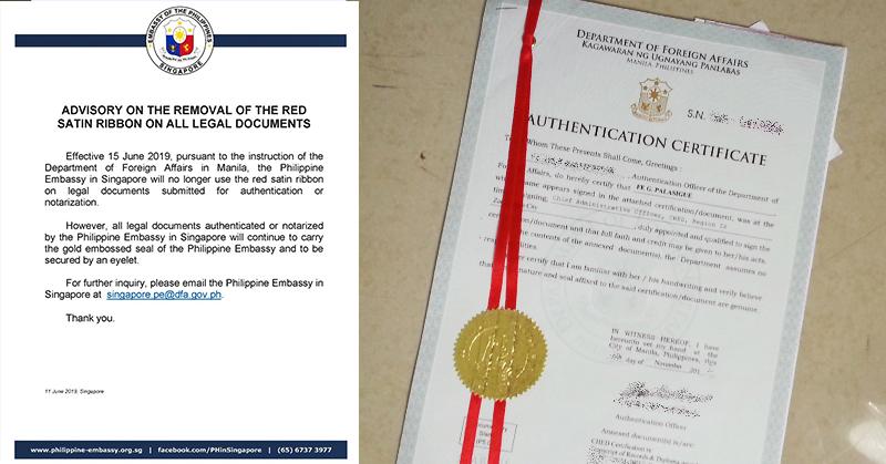 no more red ribbon ph embassy sg