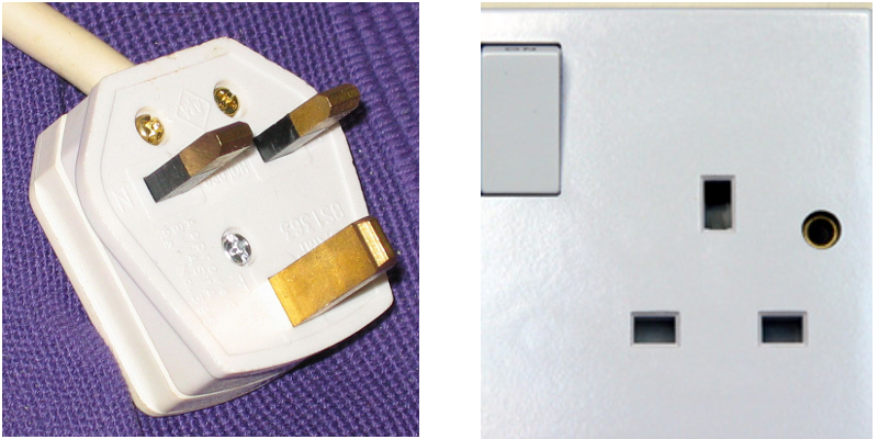 Type G power adapter and socket